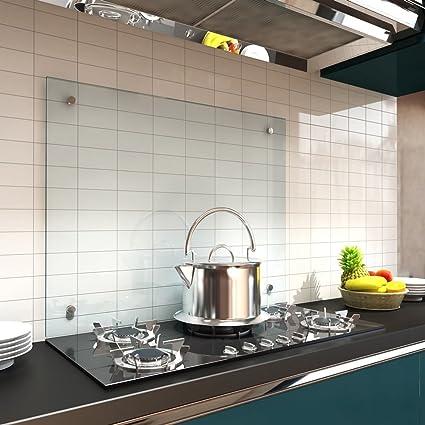 70 x 50 cm piano cucina 6 mm vetro temperato Parete posteriore ...