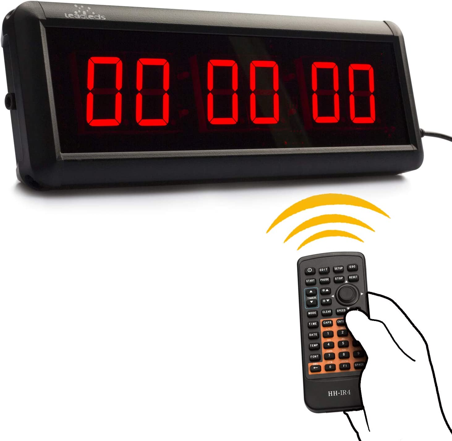 Leadleds 1.5 inch Digital Clock Display Countdown Count up LED Timer for Home Office Gym Use Stopwatch with Remote
