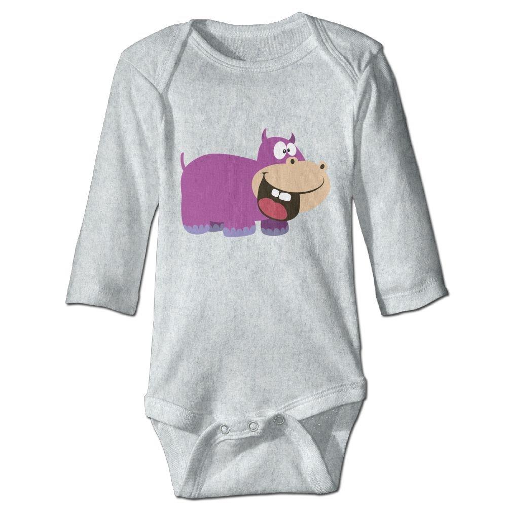 Midbeauty Purple Hippopotamus Newborn Cotton Jumpsuit Romper Bodysuit Onesies Infant Boy Girl Clothes