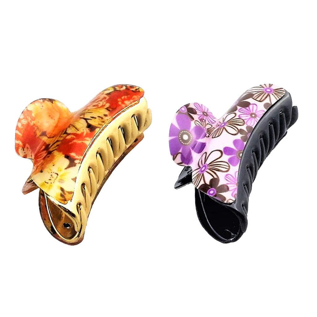 Strong Large Resin Shower Hair Claw Clamp Clips Grips Style Makeup Clips