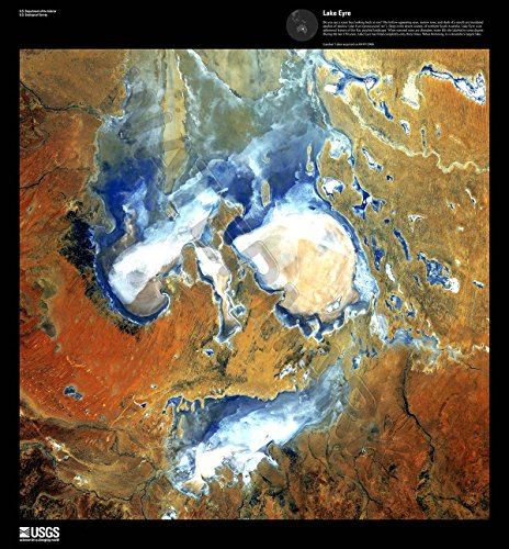 Earth Art Usgs Lake Eyre Giant Poster Print