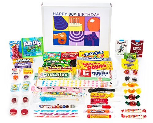 Happy 80th Birthday Retro Candy Gift Box