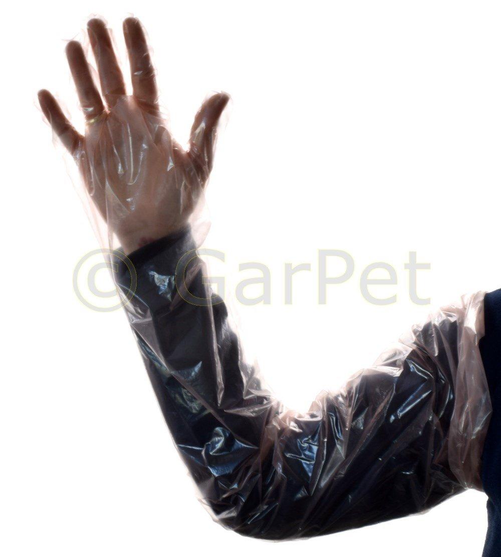 Lange Schutz Handschuhe universal Einweg 90 cm Aquarium Veterin/är Haushalt Teich