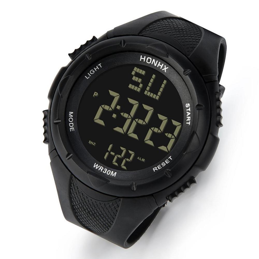 Reloj Digital Impermeable Para Hombre, Logobeing Reloj Led Digital Deportivo Para Mujer Fecha Reloj Impermeable Con Banda Elástica,Cuarzo Lujo Militar ...