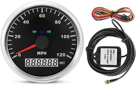 Gps Tachometer 85mm 9 32v 120mph Wasserdichter Gps Tacho Kilometerzähler Kilometerstand Einstellbar Für Auto Motorrad Auto