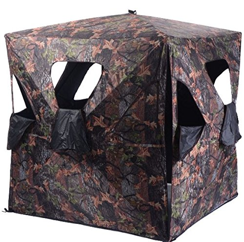 K&A Company Ground Hunting Blind Portable Deer Pop Up Camo Hunter Outdoor New Waterproof 2-3 Person Storage Bag by K&A Company (Image #3)