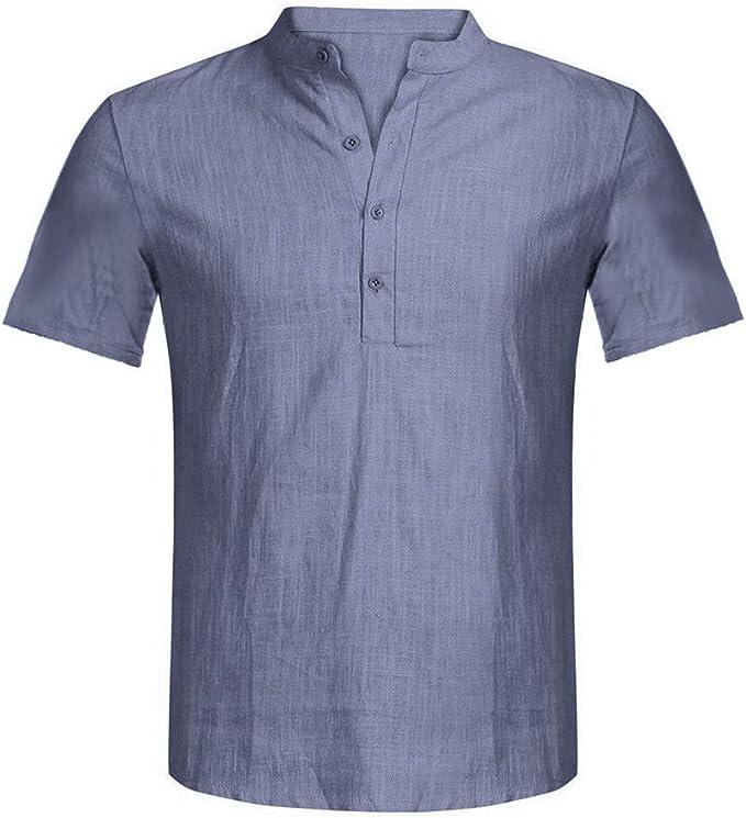 Fannyfuny camiseta Hombre Verano Polo Modelo Caballero Diario ...