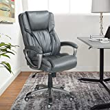 Best Serta Computer Desks - Serta Works Executive Office Chair, Bonded Leather, Gray Review