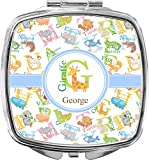 Animal Alphabet Compact Makeup Mirror (Personalized)