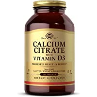 Solgar Calcium Citrate with Vitamin D3 Tablets, 240 Count