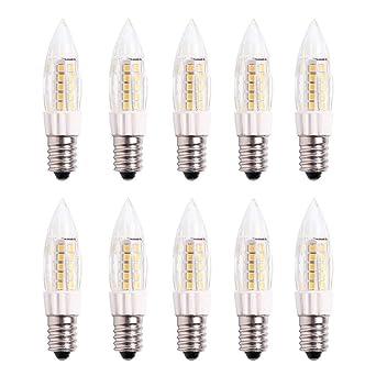 E14 Pequeño LED Bulbo 5W Bombillas Nevera -Non Dimmable 3000K ...