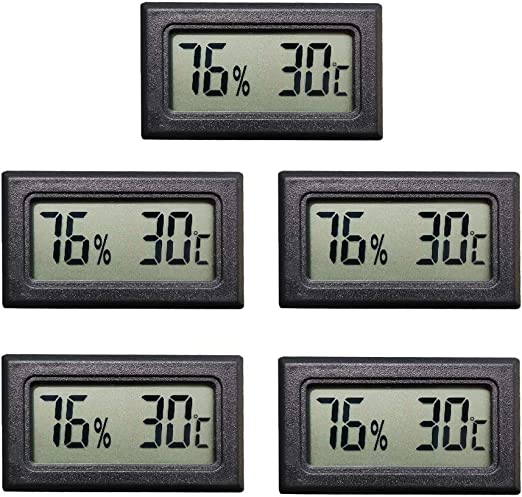Thlevel Mini Digital LCD Thermomètre Hygromètre Température Humidité Testeur (5PCS)