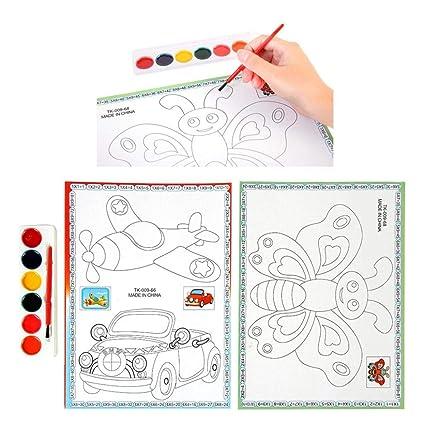 Disegno Aereo Da Colorare.Aereo Auto Farfalla Libro Da Colorare Per Bambini Diy Puzzle Per