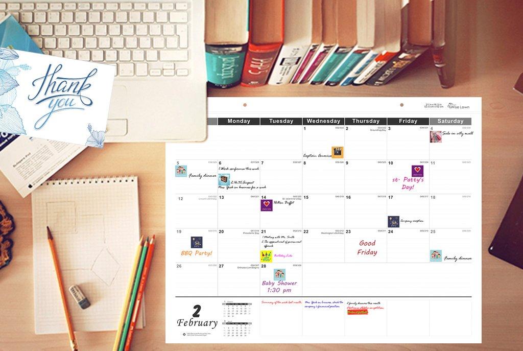 Amazoncom Lown Design Monthly Desk Blotter Calendar Pad Year - Desk blotter calendar