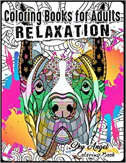 Amazon Coloring Books For Adults Relaxation Lovely Dogs