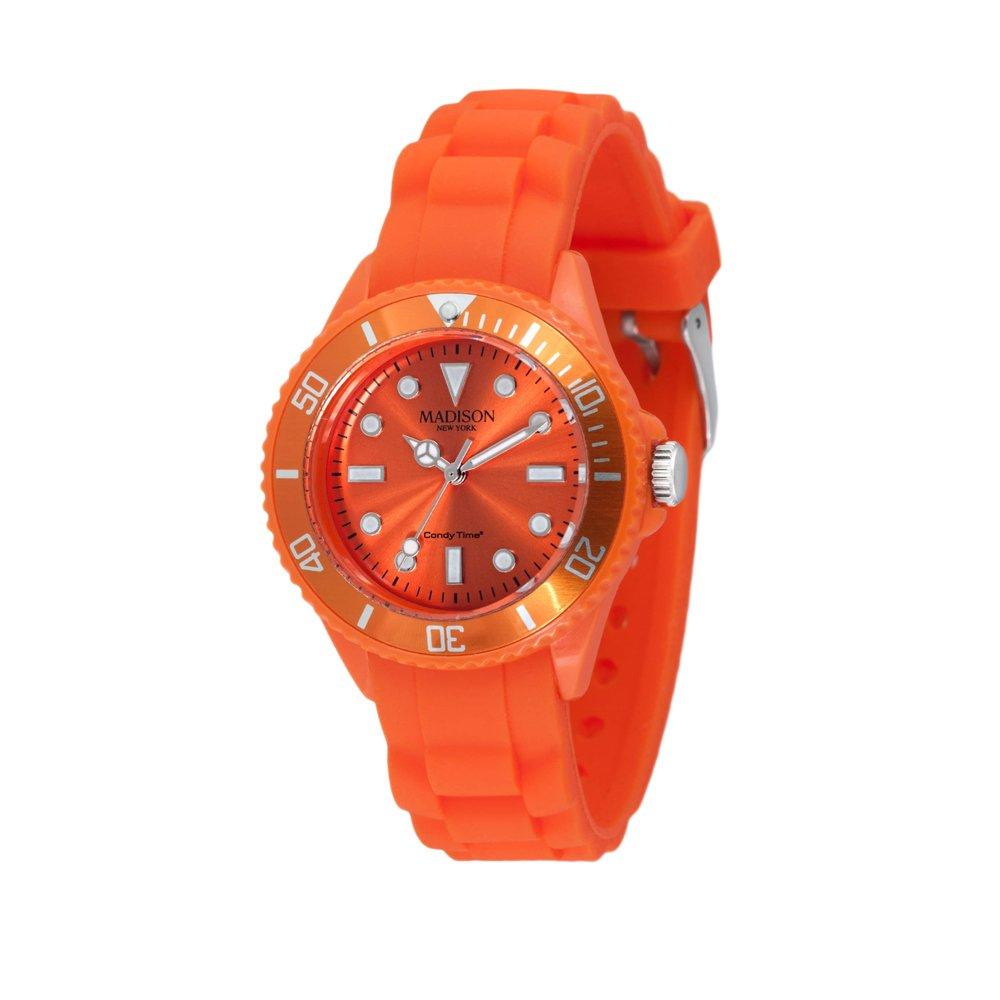 Madison New York Reloj Análogo clásico para Unisex de Cuarzo con Correa en Caucho L4167-04