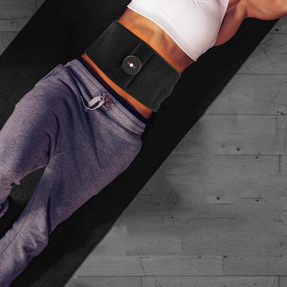 VOOADA Rechargeable Abdominal Trainer Belt Smart Adjustable Body Shaping Abdomen Belt,6 Massage Modes for Weight Loss Home Abdominal Muscles Toning Waistbelly