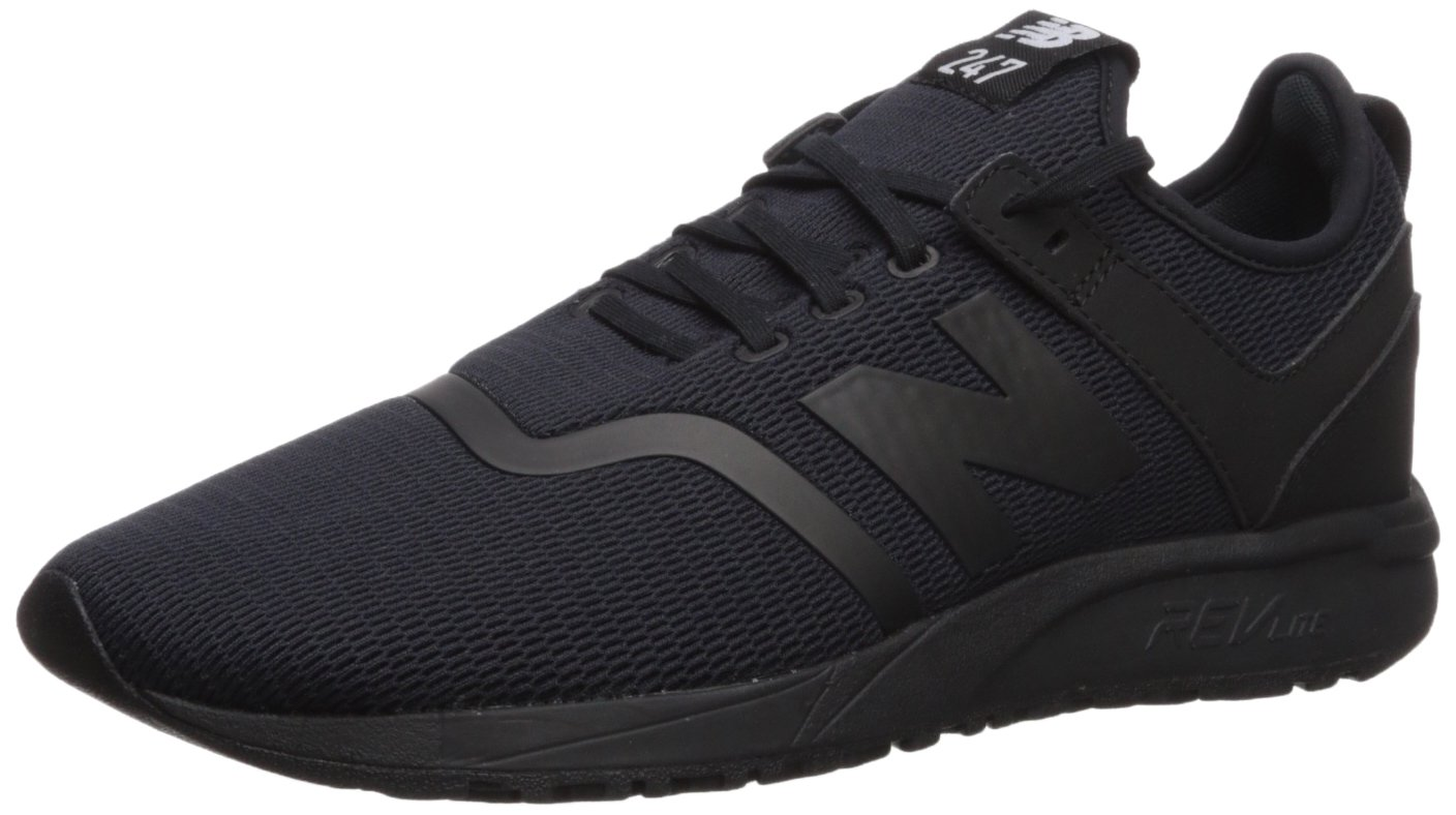 New Balance Men's 247d1 Sneaker, Black/Black, 8 D US
