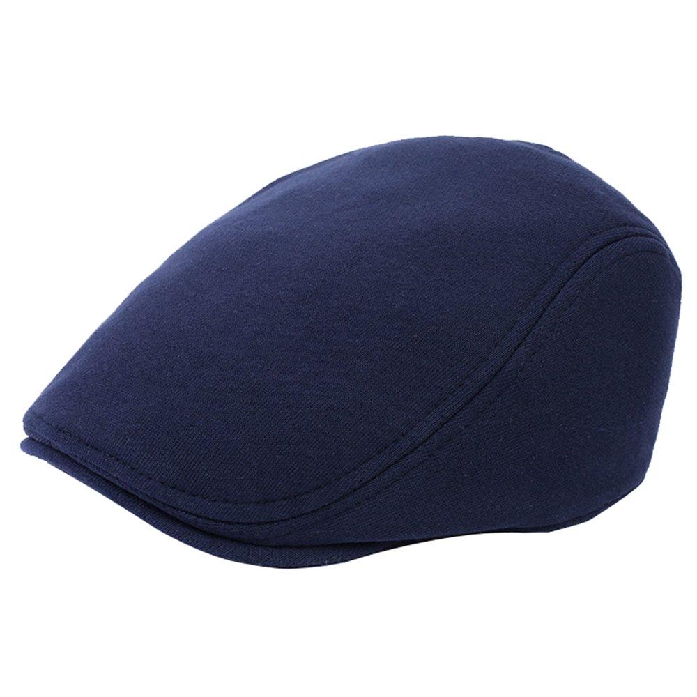 WETOO Uomo Berretto Piatto Baschi Scozzesi Classic Newsboy Flat cap