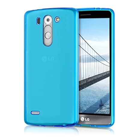 kwmobile Funda para LG G3 S D722V - Carcasa Protectora de [TPU] para móvil - Cover [Trasero] en [Azul]