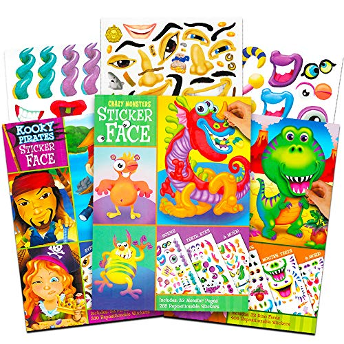 Used, Make a Face Sticker Books for Kids Toddlers -- Set for sale  Delivered anywhere in USA