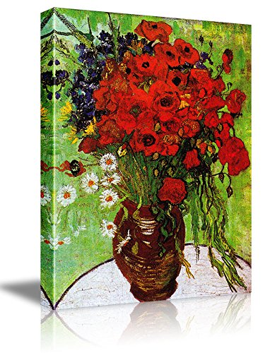 Red Poppies and Daisies by Vincent Van Gogh Oil Painting Reproduction