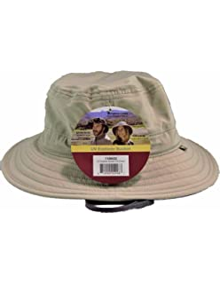 Amazon.com  Solar Escape Outback Mens UV Protection Hat- Khaki One ... 0f8347d08b5e