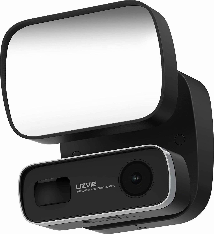 Floodlight Camera Motion Light Outdoor Camera Spotlight Camera Led Light Monitor Sensor Motion-Activated Hd Video Siren Alarm Wireless Two Way Audio Smart Flood Light for Home Security System by LIZVIE