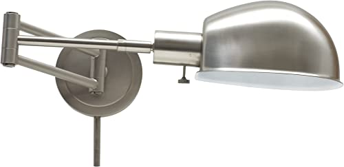 House of Troy AD425-SN Addison 1LT Adjustable Swing-Arm Wall Lamp