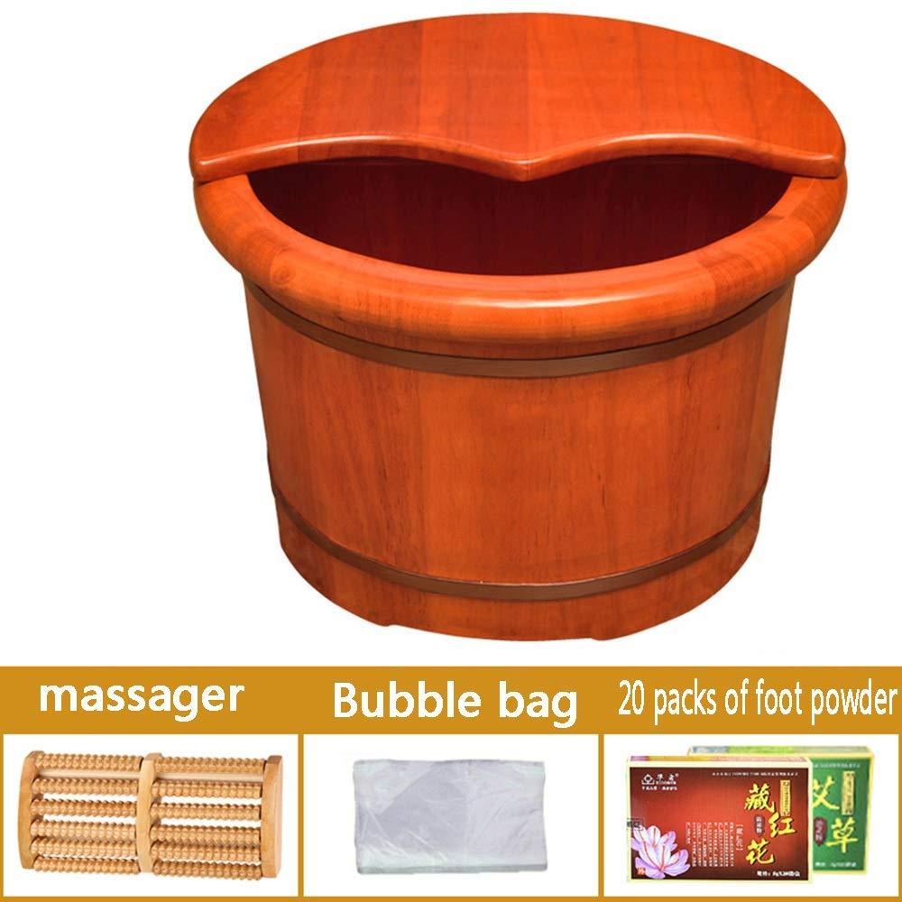 足浴槽、 大きくて丈夫な木製のペディキュアスパとマッサージャー足指の爪と足首を浸すのに最適な足浴槽 (Color : C) B07TN1YHDJ C