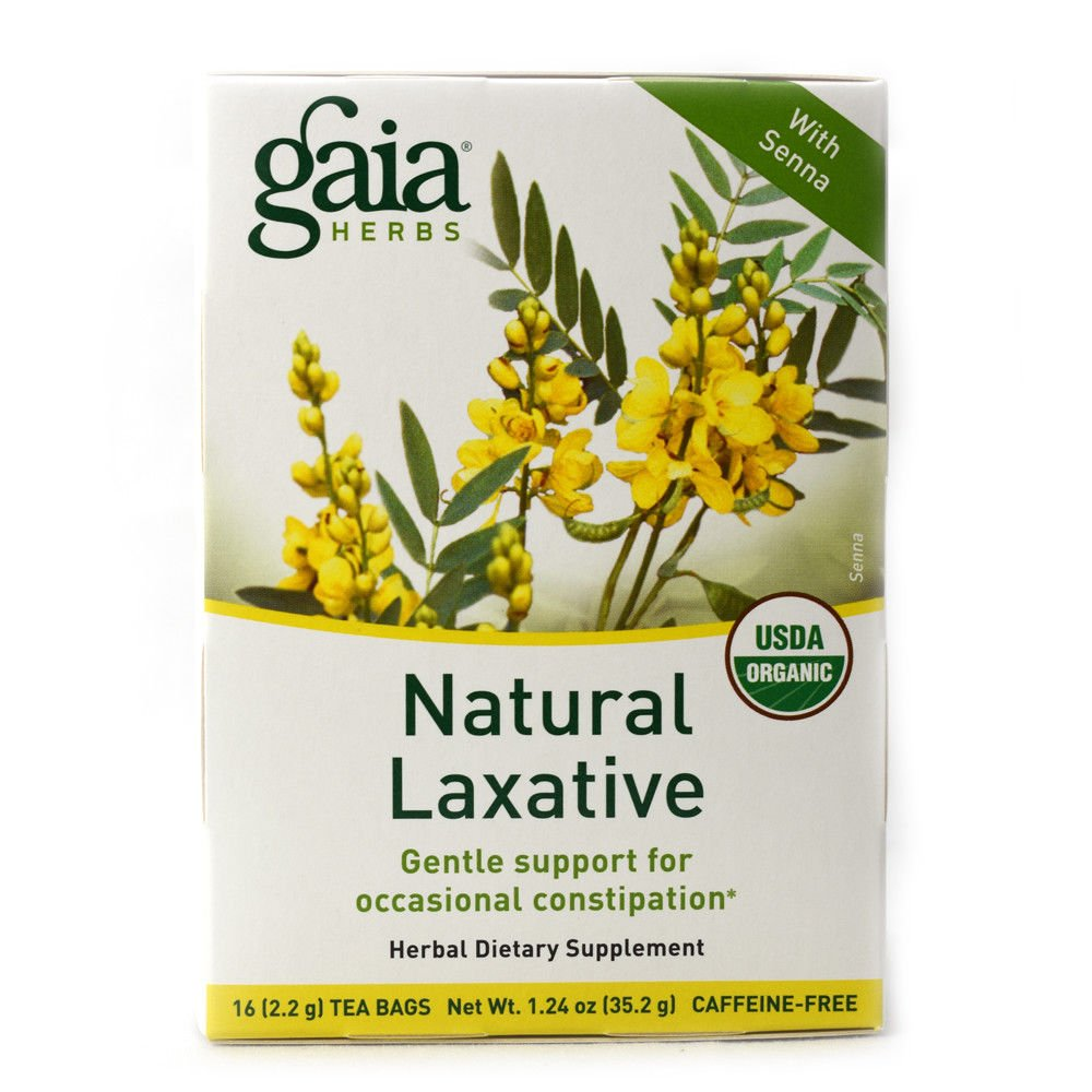 Gaia Herbs Natural Laxative,16 Tea Bags, 2 Pack (32 Bags Total)