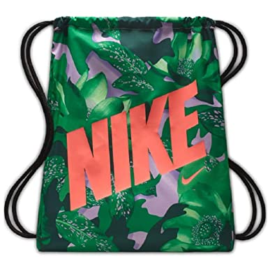 84d62720f Amazon.com: Nike YA Graphic Gymsack (One Size, Pink Rise/Black/Lava ...