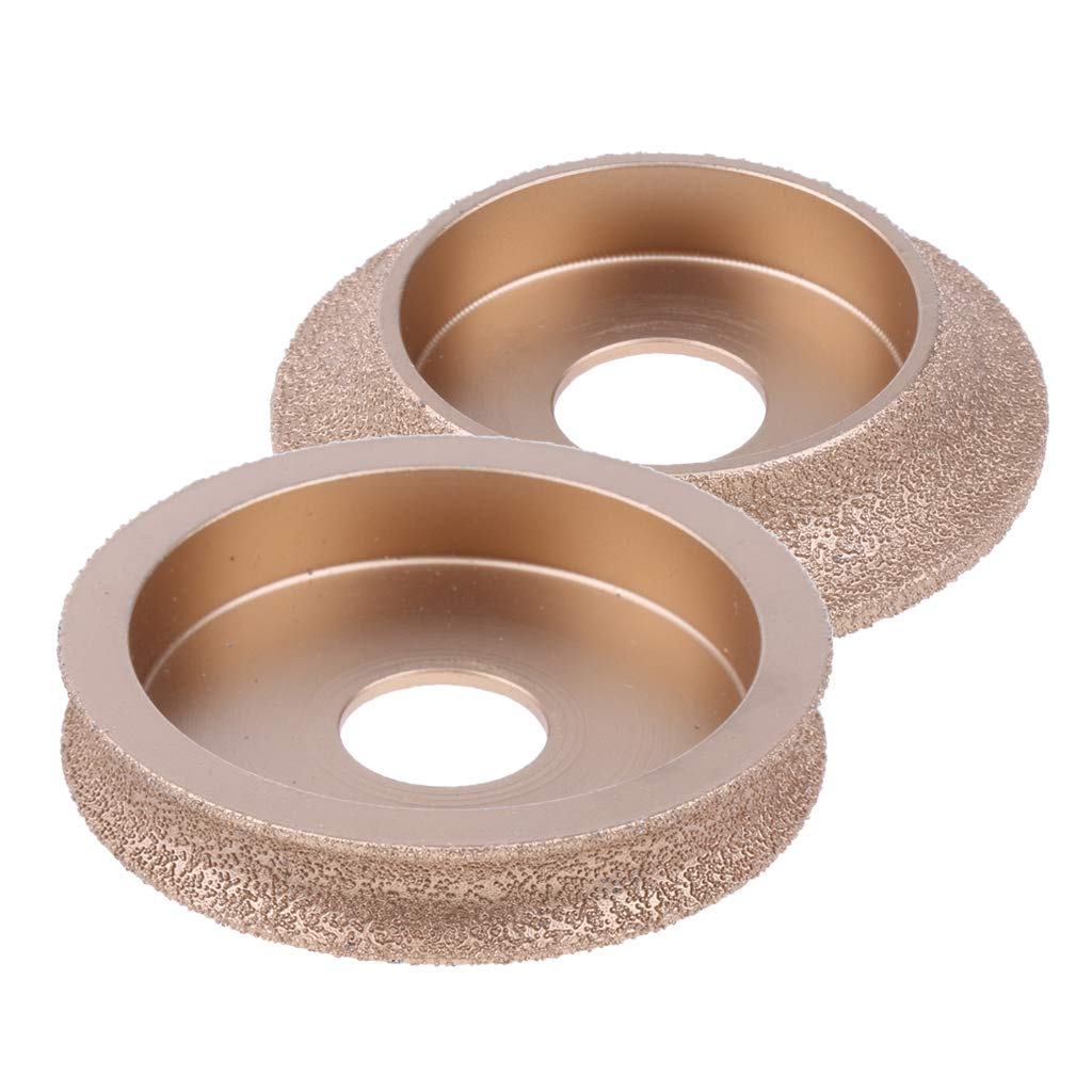 Baosity 2X Diamond Grinding Wheel Profile Wheel for Marble Ceramic for Angle Grinder, Long-Lasting