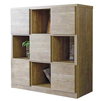 372adea81e Amazon|100-3 ラック ラッキー 1-13 (LB) 書棚 本棚 収納家具 多目的 ...