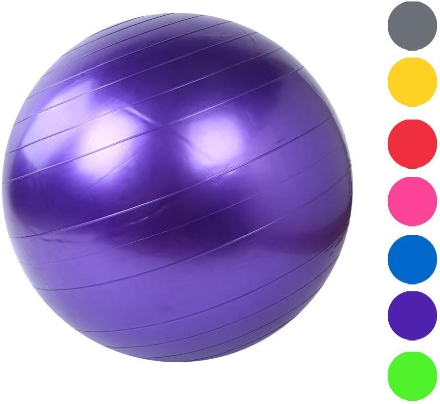 Argent La Stabilité Ballon De Gym Ballon Suisse pour La Forme Physique L'équilibre Et Le Yoga-Guide Dentraînement Et Qualité Professionnel Anti-Eclatement-55CM Coloré TM