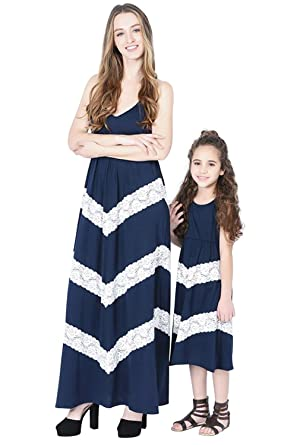 Vestiti Eleganti Mamma E Figlia.Vestiti Mamma E Figlia Eleganti Boho Abito Lungo Senza Maniche