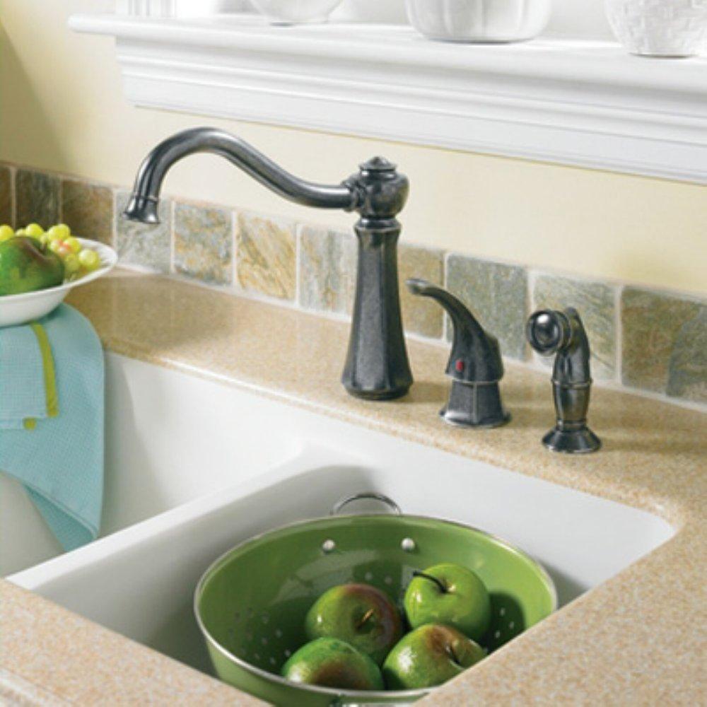 moen 7065csl vestige single handle kitchen faucet with side spray moen 7065csl vestige single handle kitchen faucet with side spray stainless touch on kitchen sink faucets amazon com