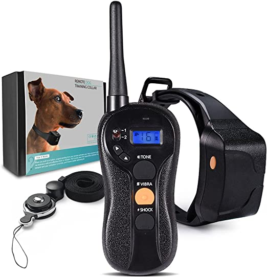 Dog Training Collar Beep Vibration and... Rechargeable Shock w//3 Modes