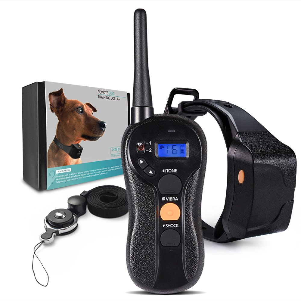 PetInn Dog Training Shock Collar with Vibration, Electric Shock, Beep; Rechargeable and Waterproof Remote Trainer for Dogs(22 to 88lbs), 2-Year Warranty