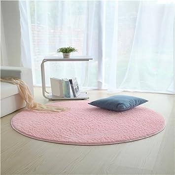 JeogYong Teppiche, Runde Kunstseide Wolle Teppich für Wohnzimmer ...