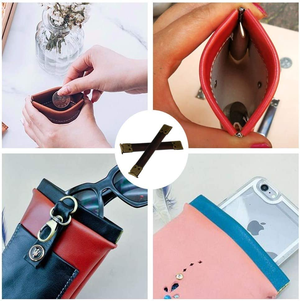 20 Pcs 10cm Metal Internal Flex Frame Kiss Clasp Bag Kiss Clasp DIY Craft Handbag Accessories for DIY Craft Handbag Purse Wallet Sewing Making