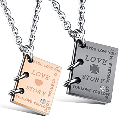 946f77cd94 Amazon.com : His and Hers Matching Necklaces
