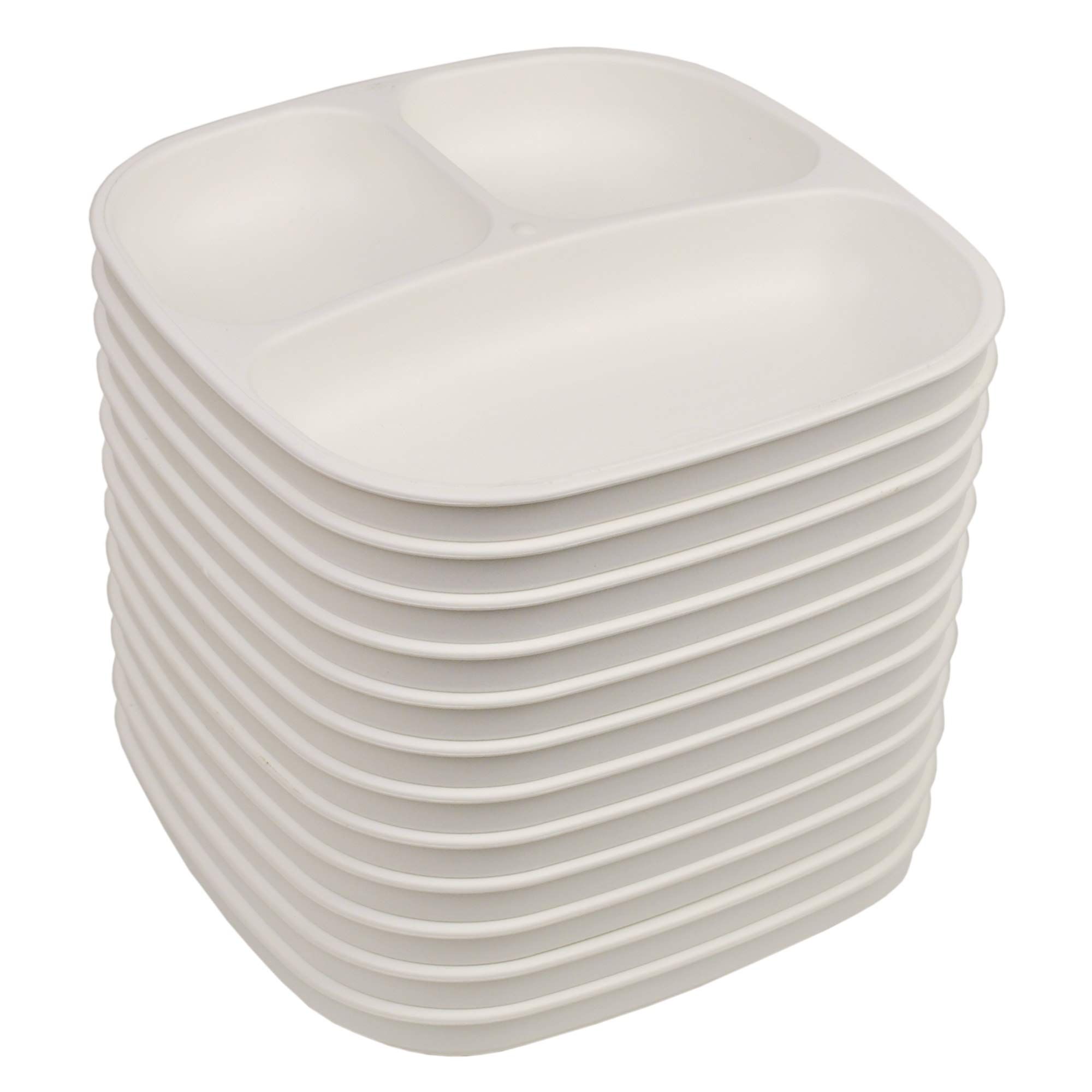 Family Style Dining - Set of 12 (7.37'' Divided Plate, White)