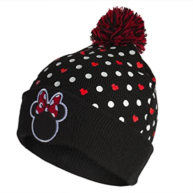 Minnie Mouse Silohuette Head Pom Pom Knit Hat Amazon Clothing