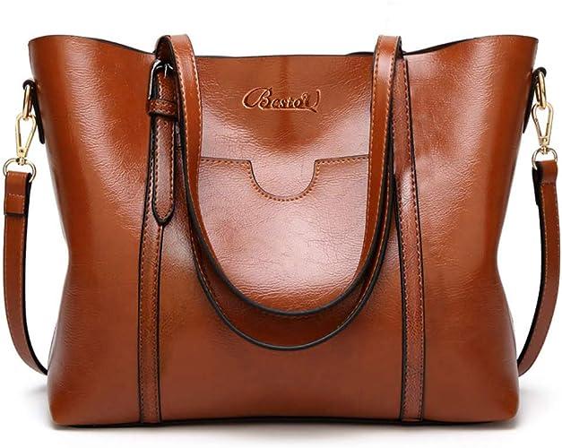 BestoU Handbags for Ladies PU Leather Women Shoulder Bag Large Tote Shopper