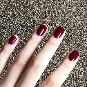 BloomingBoom 24 unidades de 12 tamaños de uñas postizas de acrílico ...