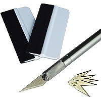 Ehdis® Vinyl Film Kits applicateurs d'installation: Mini souple Emballage Teinte Raclette 30 Degree Craft Utility Knife avec bouchon de sécurité