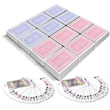 Gamie Red and Blue Decks of Playing Cards - Pack of 12 - Each Pack Includes a Printed Box - Fun Poker Night and Party Favors - Great School and Carnival Prizes for Adults and Kids Ages