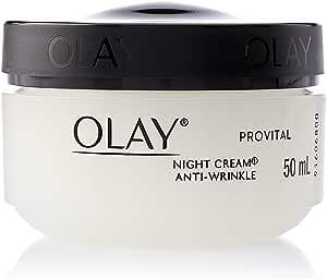 Olay Anti-Wrinkle Provital Night Cream for Mature Skin, 50 ml