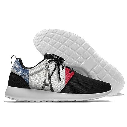 Flag France Paris Vintage Unisex Running Shoes Sport Shoes Walking Shoes Cushion Sneaker
